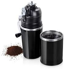Travel Coffee Grinder Set ROMAUNT All In One Portable Manual Grind Brew Maker Single Serve