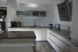 credence verre cuisine credence verre pour cuisine armoires de cuisine blanches avec