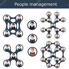 bureau des ressources humaines illustration vectorielle de management concept hiérarchie de