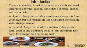 cuisine chagne aims and objectives of cooking