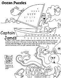 Ocean Puzzles Coloring Page