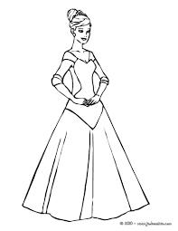 Long Dress Coloring Pages Coloriage De Princesse Colorier En Ligne