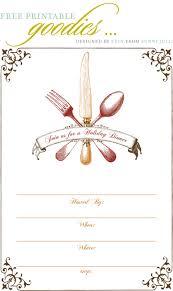 Free Blank Halloween Invitation Templates by Free Printable Thanksgiving Dinner Invite Gobble Gobble