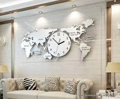 große weltkarte 3d wanduhr modernes design wohnzimmer dekoration