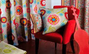 tissu d ameublement à fleurs en coton en