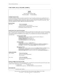 Resume Qualification Examples Skills On Job