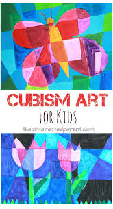 Picasso Artist Inspired Cubism Art For Kids Spring Arts Crafts Ideas Butterflies And Tulips
