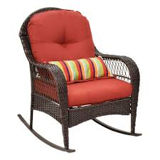 Outdoor Wicker Rocking Chair Porch Deck Rocker Patio ... My Favorite Finds Rocking Chairs Down Time Exciting Rattan Wicker Chair Cushions Agreeable Fniture Rural Grey Wooden Single Rocking Chair Departments Diy At Bq Outdoor A L Hickory 7 Slat Rocker In 2019 Handsome Green Tweed Cushion Latex Foam Rustic American Sedona Lowes For Inspiring Antique Classic Check Taupe Plaid Standish Darek La Lune Collection Belham Living Raeburn Rope And Wood Walmartcom