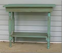 Make A Small End Table by Repurposed Crib Legs Table Top My Repurposed Life