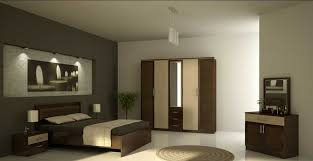 Master Bedroom Design For Simple Modern Interior With White And Grey Wall Paint Color Combined Brick Texture Plus Decorating