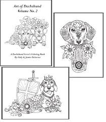 This Coloring Book Consists Of 15 Hand Drawn Images Beautiful Dachshunds For You To Color Weiner DogsDachshund