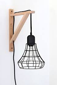 hanging light bracket with industrial style wall sconce iron pipe