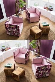 bob rosa sessel mit blumen rosa möbel sessel