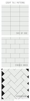 best 25 12x24 tile patterns ideas on tile layout