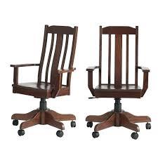 Architecture Unusual Idea Mission Style Office Chair Oak Desk Medium