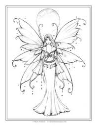 Free Fairy Coloring Page By Molly Harrison Fantasy Art December Blue