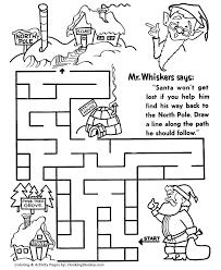 Find The North Pole Maze Sheet