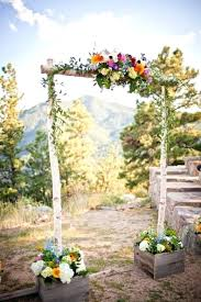 Outside Wedding Decor Mesmerizing Rustic Outdoor Decoration Ideas With Additional Vintage Table