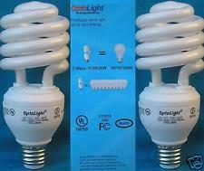 3 way compact fluorescent light bulb mini spiral cfl 11 20 26w