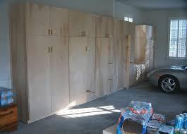 unfinished custom diy wood wall garage cabinets for large garage