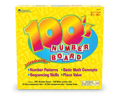 learning resources hundred number board plastic toys