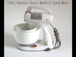 Hamilton Beach Stand Mixer Model K 1940s Kitchen Appliances Demo Video