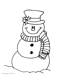 Snowman Coloring Pages To Print With Snowmen