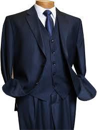 3 Piece Vested Blue Pinstripe Zoot Suit 1940s Mens Suits Vintage Fashion