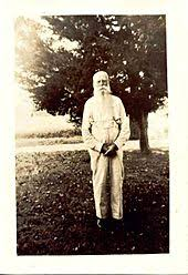 A Black And White Image C1900s Of An Elderly Man With