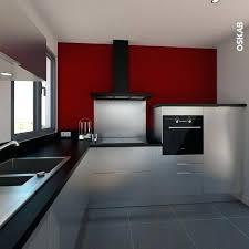 cuisine gris et noir deco cuisine grise et meuble cuisine pour idees de deco