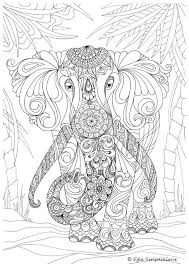 Elephant Coloring Pages COLORS OF LIFE