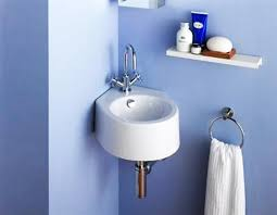 Small Wall Mounted Corner Bathroom Sink by October 2017