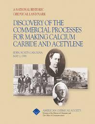 commercialization of calcium carbide and acetylene landmark