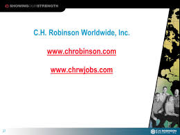 1. 2 Who Is C.H. Robinson?  A Leading Third-party Provider Of ... Ch Robinson Worldwide Inc 2016 Q3 Results Earnings Call A Wonderful Business At Fair Price Competitors Revenue And Employees Owler Company Profile Tmc Supply Chain Logistics Management Division Of Truckdomeus Yrc The Power Flowers Valentines Day Stastics Celebrates 25 Years In Mexico Wire Responding To Uber Freight Technology Home Facebook Hurt By Weak Pricing Wsj