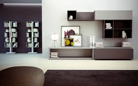 FurnitureWooden Modern Storage Wall Unit With Thre On Each Side Completed By Vivid