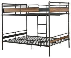 brantley ii bunk bed sandy black and silver industrial bunk