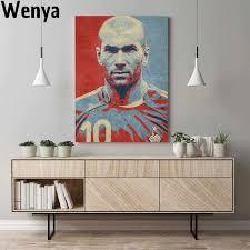 zidane hopestyle kunstwerk design poster leinwand wand
