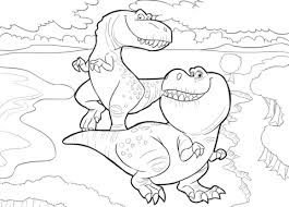 Click To See Printable Version Of Nash And Ramsey From The Good Dinosaur Coloring Page