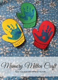 Easy Quick And Memorable Memory Mitten Craft From Theclassroomcreative