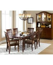 Macys Dining Table Set 6 Crestwood 7 Piece Room Furniture To Apartment Interior Designing