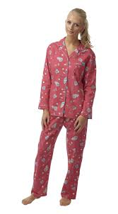 ladies campervan flannelette pyjamas wincy soft cotton pjs
