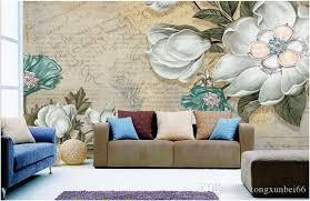 großhandel europäischen stil retro ölgemälde blume tapeten wohnzimmer schlafzimmer tv hintergrundbild große handgemalte abstrakte kunst wandbild