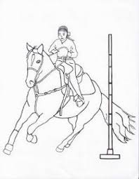 Free Printable Pole Bending Coloring Page