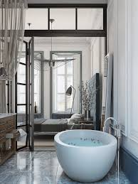 bedroom with bathroom architecture home decor