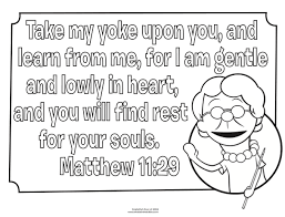 Coloring Pages For Matthew 6 Bible What S In The