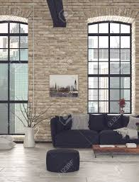 nahaufnahme schwarz stühle und holztisch im wohnzimmer mit glasfenstern
