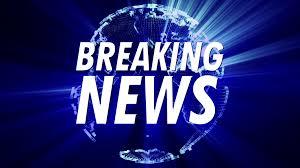 4K Shining 3D Globe Spinning Earth Animation Modern Design In Blue Breaking News Title Headline Logo