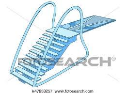 Clip Art Of Diving Board K47853257