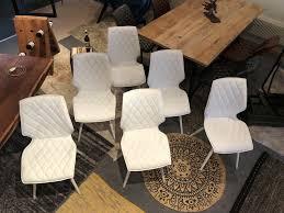 esszimmer gastro küche design polsterstuhl kunstleder weiß