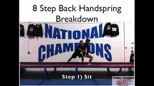 Instructions For Tumble Form Chair by How To Tumble Back Handspring Beginner Cheer And Gymnastics